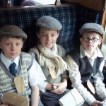 Pupils on a visit to Pickering during the War Weekend