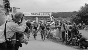 The finish line at the British Cycling Championships, Ampleforth 2012