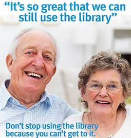 Don't Stop Using the Library Poster