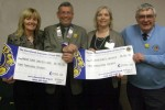 Lions cheques for cancer charities