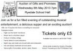 Ryedale School Auction of Promises - 8th May