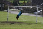 Jordan Rivis' free kick beats keeper Lowerson to give Kirkby the lead