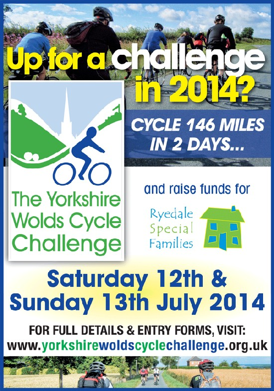 Yorkshire Wolds Cycle Challenge poster 2014