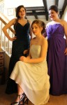 Amy, Sara and Julia modelling prom dresses