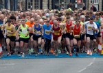 Runners at the start of the Kirkbymoorside 10K 2014