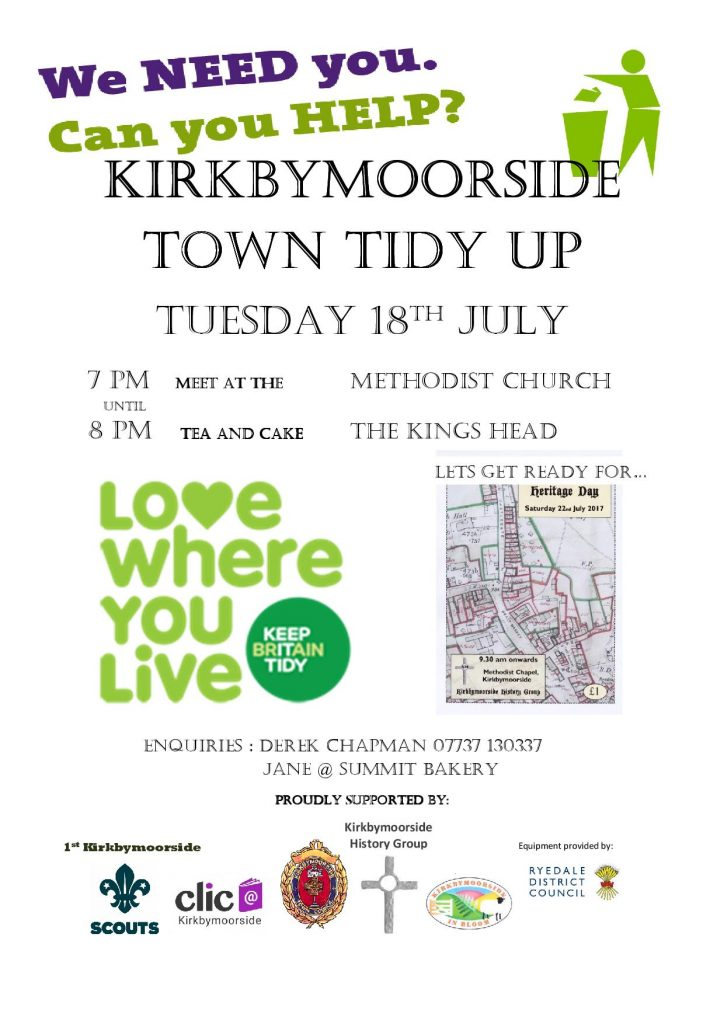 Kirkbymoorside Town Tidy Up 2017