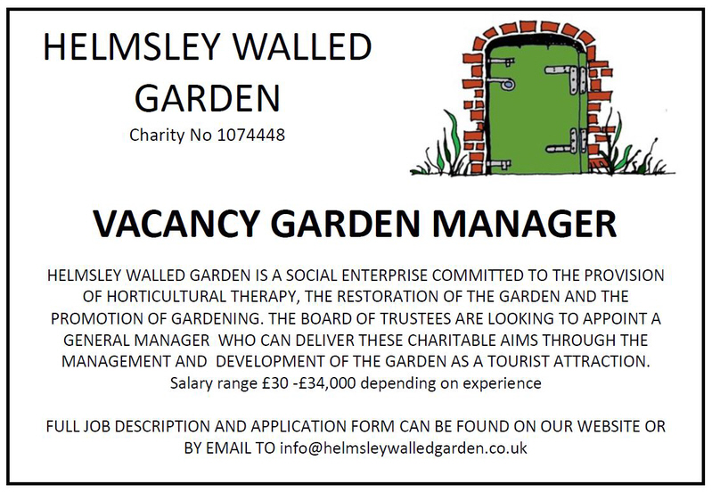 Garden Manager leaving Helmsley Walled Garden The Kirkbymoorside