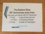 Barbers Shop Kirkbymoorside Prize Draw