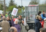 Marchers prepare to set off on the Frack Free Ryedale Rally