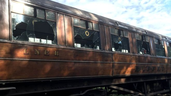 Historic Yorkshire Moors rail carriages seen in Downton Abbey demolished by vandals