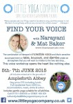 Find Your Voice Workshop poster