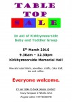 Kirkbymoorside Baby & Toddler Group Table Top Sale Poster