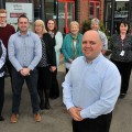 Luke Norbury and his team at Home Instead at Clifton Moor Business Village.Pic : Nigel Holland