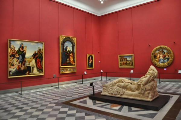 Michelangelo hall at the Uffizi (courtesy of the gallery website)