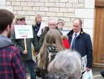 Kevin Hollinrake Mp confronted by demonstrators
